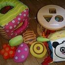 音のなるふかふかおもちゃ・ミキハウス積み木おもちゃ