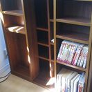 CD、文庫本棚