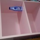 二段カラーボックス