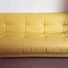 ※再掲※◆革製ソファベッド◆背もたれ3段階調節付き