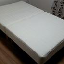 ポケットコイル セミダブル 脚付きマットレス 分割式ベッド