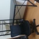 机(PCデスク)、椅子セットで差し上げます