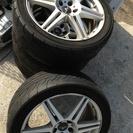 【再値下げ】スパルコ 17インチ アルミホイール 4本セット タイヤ付き