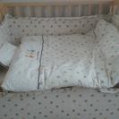 ミニベビーベッド、布団、ベッドガード