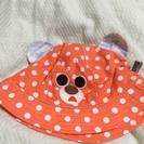 可愛いオレンジ色の夏用帽子