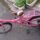 売れましたピンクの折り畳み自転車 コールマン