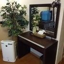 【期間限定】スタイリッシュ&モダン  大きな鏡のドレッサー(収納ス...