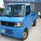 三菱 ミニキャブトラック 660 Vタイプ エアコン付 (ブル...