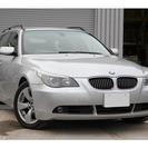 BMW 5シリーズツーリング 525i 黒革・シートヒーター・木...