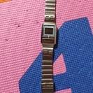 CASIO  デジタル腕時計 ブルー液晶