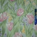 花柄カーテン
