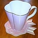 Franfran 未使用コーヒーカップとコースターのセット