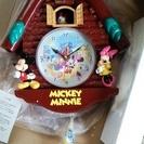 【お話中】ミッキーミニーのドナルドダックが振り子の掛け時計、未使用
