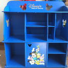 DWEディズニー英語システム教材専用棚☆ミッキー青色