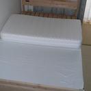 檜のベッド セミダブル(210㎝×121㎝)とマットレス(厚さ11...