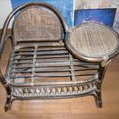 籐椅子(テーブル付)が無料です