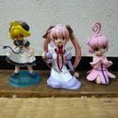 女の子3人のフィギア