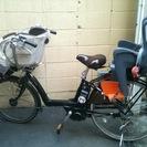 【終了】(商談中)引越し処分) 電動自転車 ヤマハパス 前後子ども...