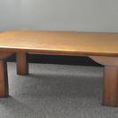 【終了】折りたためる丸い角のローテーブル