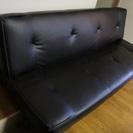 黒いソファベッド譲ります。