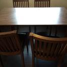 ダイニングテーブル5点セット(テーブルと椅子4脚)