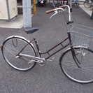 ★中古 自転車 27インチ 3段変速 傘立て付き チェーンロック付き