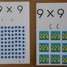 「ひとりで学べる 九九カード」  かけ算の意味や大きさまで解ってし...