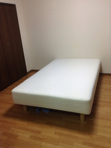 無印良品セミダブルベッド\u0026ニトリ二段ベッドの画像