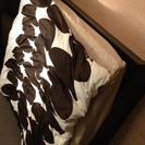 IKEA クイーンベッド(黒シンプル)値段交渉可