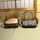 回転式座椅子2脚