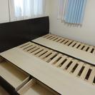シングルベッドのフレーム2台あげます。