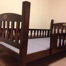 シックなデザインの子ども用ベッド(組み立て式)あげます!