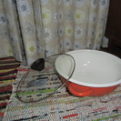 ◆交渉中◆◎値下げ◎IH万能ホーロー卓上鍋 オレンジ◎未使用◎ 美...