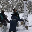 スノーシューで五頭の森を探索