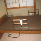 ベッドが電動で動きます。