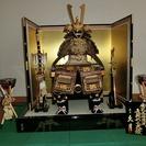 兜(かぶと)飾り(久月) + 金太郎人形(久月)