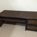 【交渉中】ウッド&バンブー パソコンデスク アジアン家具(座椅子つき)