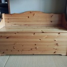 木製収納付きベンチ差し上げます