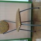 【岡山】中古、オレンジ色のモダンな椅子3脚セット