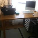 書斎机譲ります。簡単な作業台にもおすすめです(一度受付を終了します)