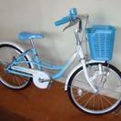 20インチ子供用水色自転車 美品で...