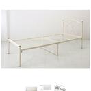 姫系ベッド、マットレス&シルバーのラックセット(単品不可)