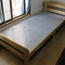 【交渉中です】組み立て式木製ベッド譲ります