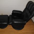 値下げ交渉可 オットマン付きリクライニング椅子チェアー