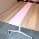 木目調 折りたたみ 跳ね上げ式フォールディングテーブル 160X9...