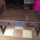 レトロ調 テーブルと収納付き踏み台