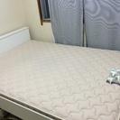 IKEAダブルベッド+フランスベッド マットレス