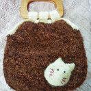 もこもこ毛糸の猫さん バック 未使用