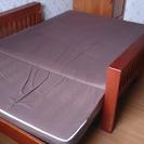 木製ソファーベッド マットレス付き