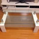 【無料】【引き取り限定】ガラスローテーブル